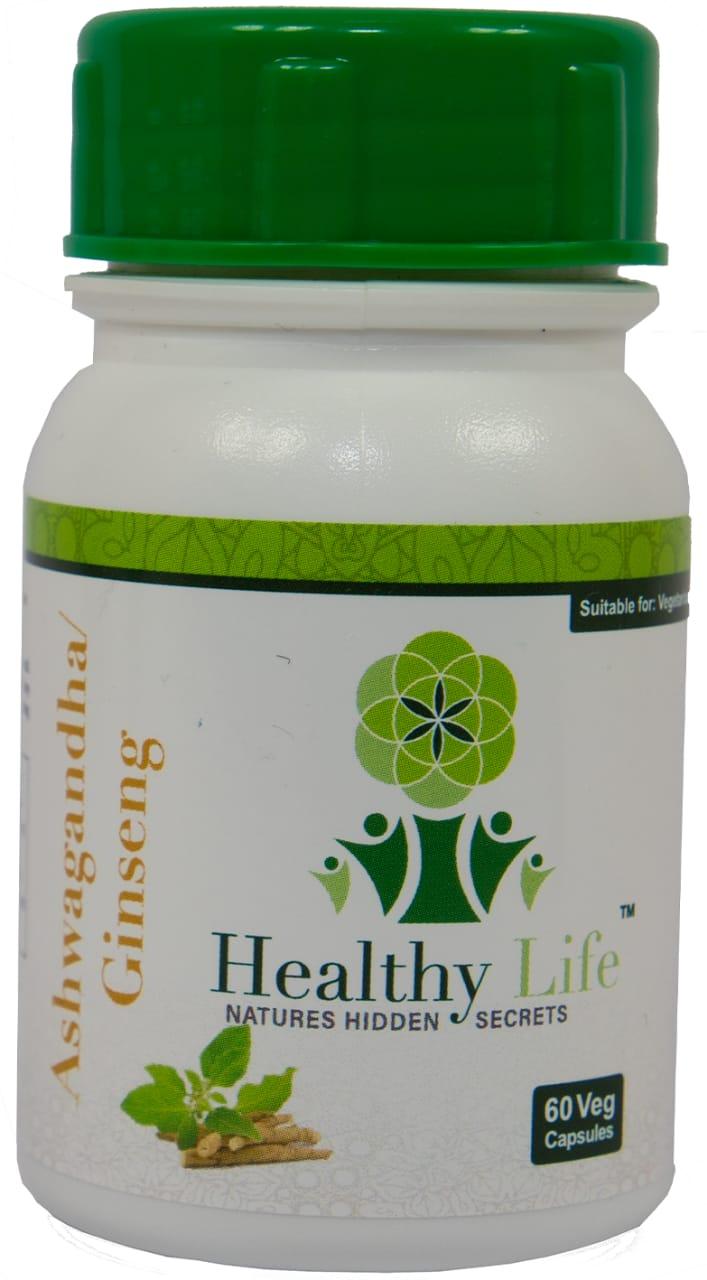 Healthy Life – Ashwaganda/Ginseng Capsules – 60s